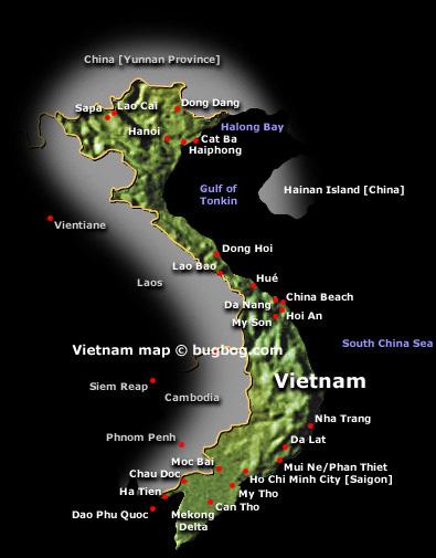 An bang beach vietnam map